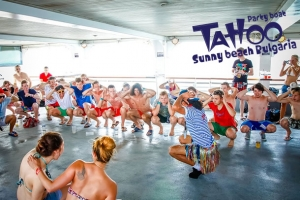 TATTOO NAUGHTY ON THE BOAT PARTY